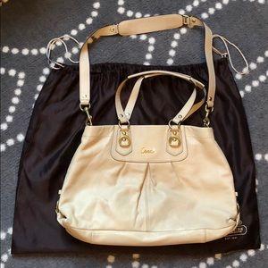 Coach purse. Ivory leather.